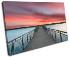 Lake Jetty Pier Sunset Seascape - 13-1537(00B)-SG32-LO